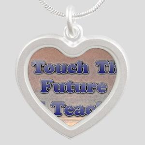 I_TEACH8x11 Silver Heart Necklace