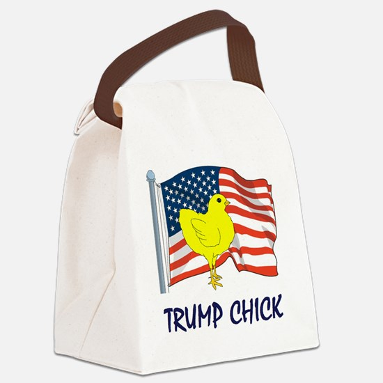 trump chick Canvas Lunch Bag