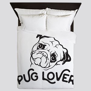 Pug Lover Queen Duvet