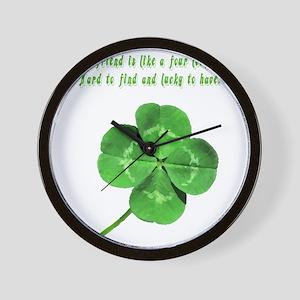 4leafcloverfriend Wall Clock