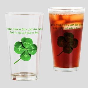 4leafcloverfriend Drinking Glass
