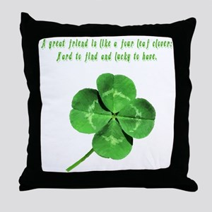 4leafcloverfriend Throw Pillow