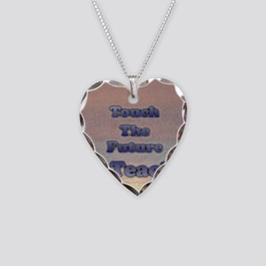 I_TEACH_square Necklace Heart Charm