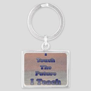 I_TEACH_square Landscape Keychain