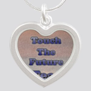 I_TEACH_square Silver Heart Necklace