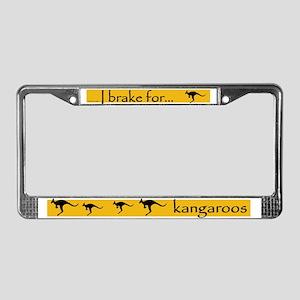 I Brake for Kangaroos License Plate Frame