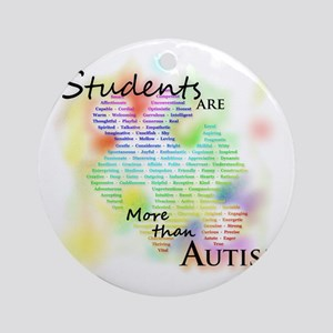 morethanautism2-students Round Ornament