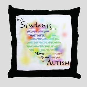 morethanautism2-students Throw Pillow