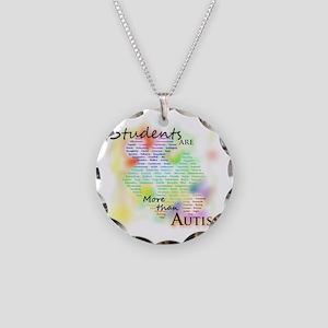 morethanautism2-students Necklace Circle Charm