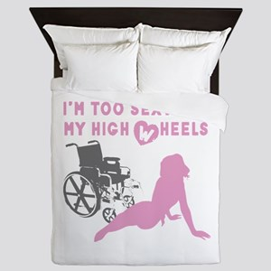 too sexy for my wheels pink-new versio Queen Duvet