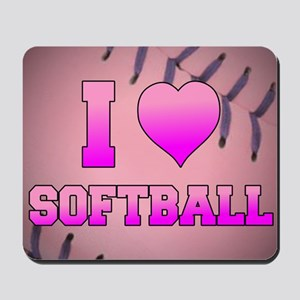 I Heart Softball Mousepad