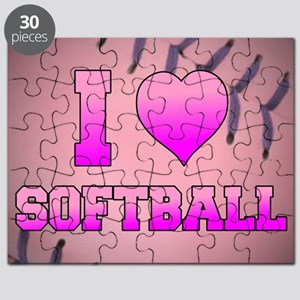 I Heart Softball Puzzle
