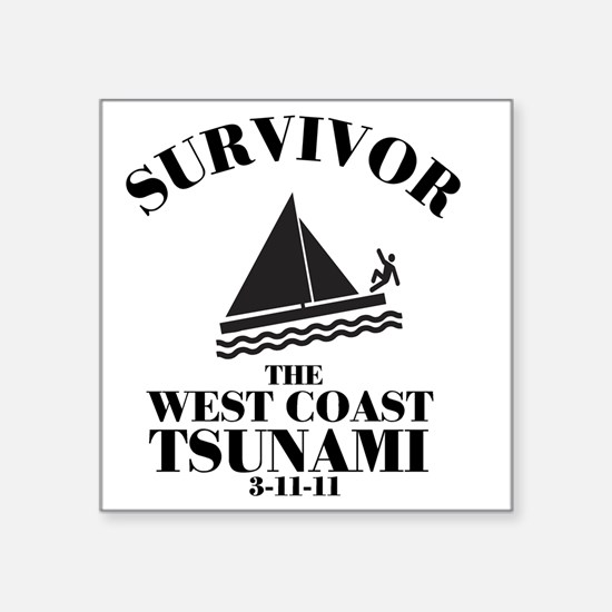 "westcoast Square Sticker 3"" x 3"""