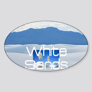 whitesandssq Sticker (Oval)