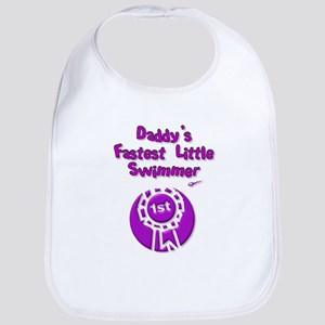 Daddy's Fastest Little Swimme Bib