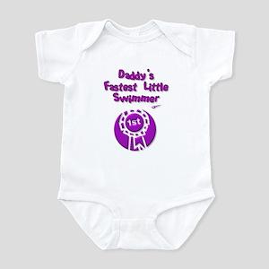 Daddy's Fastest Little Swimme Infant Bodysuit