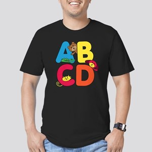 ABCD Men's Fitted T-Shirt (dark)