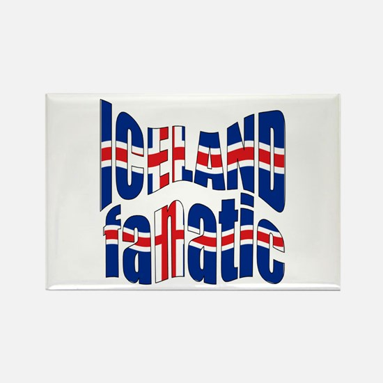 Iceland Sports Fanatic flag Rectangle Magnet