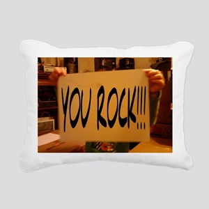 You Rock2 Rectangular Canvas Pillow