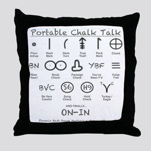 Portable Chalk Talk Throw Pillow