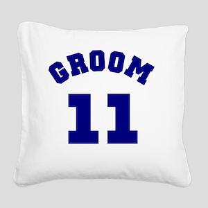 navygroombasic11 Square Canvas Pillow