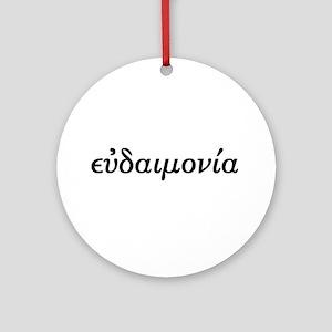 Eudaimonia Ornament (Round)