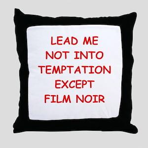 film noir Throw Pillow