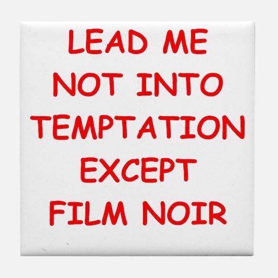 film noir Tile Coaster