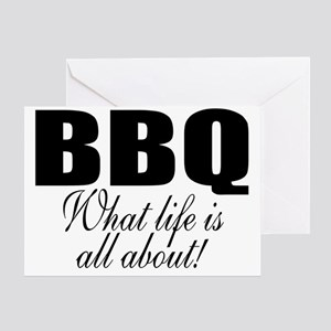 BBQ is life Greeting Card