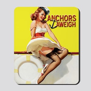 anchors aweigh yellow Mousepad