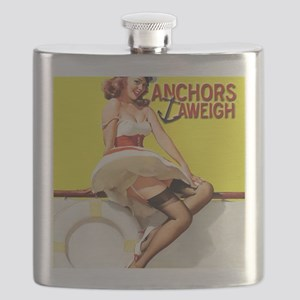 anchors aweigh yellow Flask
