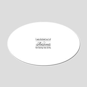 AristocratsBlack 20x12 Oval Wall Decal
