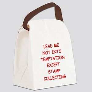 stamp collecting Canvas Lunch Bag