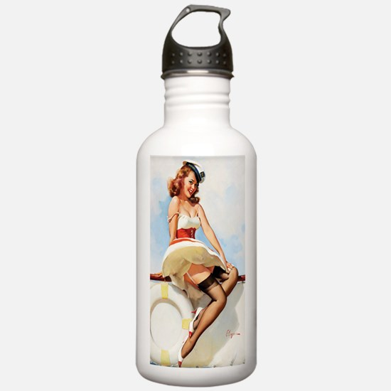 anchors aweigh mini po Water Bottle