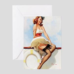 anchors aweigh mini poster Greeting Card