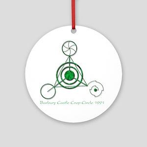 Barbury Castle Crop Circle Round Ornament