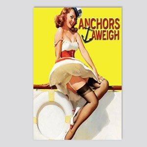 anchors aweigh yellow jou Postcards (Package of 8)