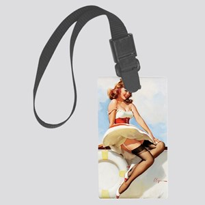 anchors aweigh small poster 16 b Large Luggage Tag