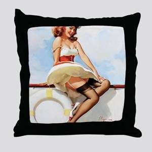 anchors aweigh small poster 16 by 20 Throw Pillow