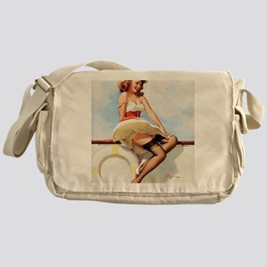 anchors aweigh small poster 16 by 20 Messenger Bag