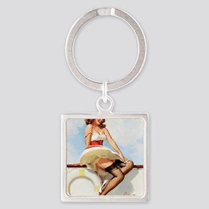 anchors aweigh small poster 16 by  Square Keychain