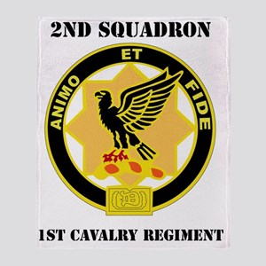 2-1 CAV RGT WITH TEXT Throw Blanket