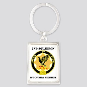2-1 CAV RGT WITH TEXT Portrait Keychain