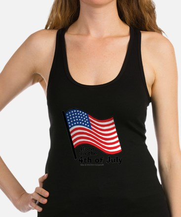 born-on-4th-of-july Racerback Tank Top