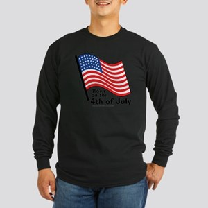born-on-4th-of-july Long Sleeve Dark T-Shirt