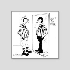 "8399_referee_cartoon Square Sticker 3"" x 3"""