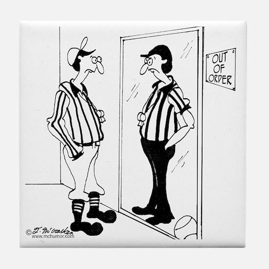 8399_referee_cartoon Tile Coaster