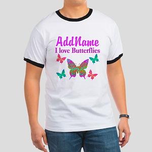 LOVE BUTTERFLIES Ringer T