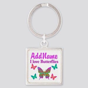 LOVE BUTTERFLIES Square Keychain