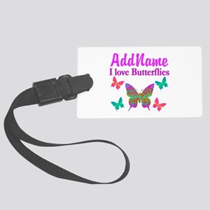 LOVE BUTTERFLIES Large Luggage Tag